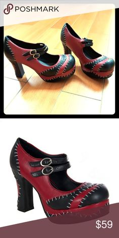 80f41eee9cfb T.U.K Size 11 Monster Stitch Platform Mary Janes Brand new. Never worn.  These shoes