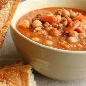 Chorizo and Garbanzo Bean Soup, Recipe from Cooking.com
