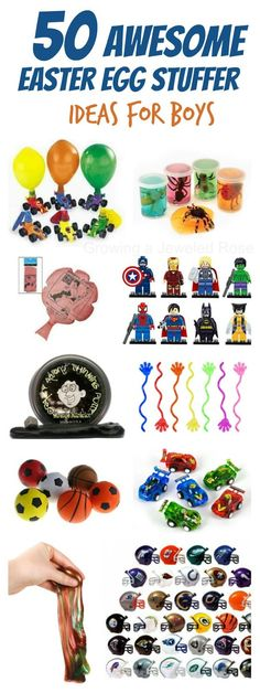 50 unique & creative Easter Egg Stuffer Ideas for Boys   So many neat ideas- NO CANDY!