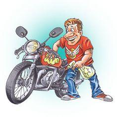 Biker Dad Digi Stamp in Digital images