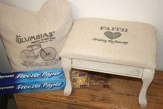 Personnalisez tout projet utilisant du papier de congélateur, artisanat, meubles peints