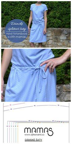 Dámské úpletové šaty – fotonávod a střih mamas | Šijte s námi | mamas