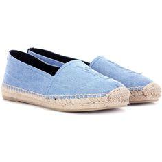 Saint Laurent Monogram Denim Espadrilles ($400) ❤ liked on Polyvore featuring shoes, sandals, sapatos, blue, espadrilles, espadrilles shoes, espadrille sandals, denim shoes, yves saint laurent sandals and blue denim shoes