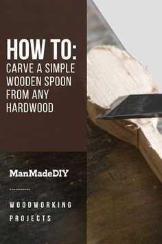 Looking for a beginner wood carving project? We've put together step by step instructions on how you can make your next wooden spoon next! You can use ANY hardwood to make this happen. // Woodworking // Wood Craft // Wooden Utensils // Woodworking Projects // DIY Wood Projects // Wood Crafts // Wood Projects // Woodworking Projects Diy, Woodworking Wood, Diy Wood Projects, Wood Crafts, Wooden Spoons, Step By Step Instructions, Wood Carving, Hardwood, Cards Against Humanity