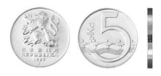 5 Kč Commemorative Coins, Money, Personalized Items, Silver