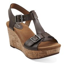 Just bought them: loooove!   Caslynn Paula in Dark Grey Leather - Womens Sandals from Clarks