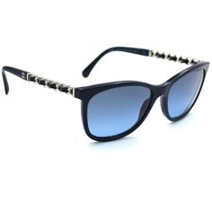41009a65830 Chanel 5260 Q Square Sunglasses Navy Blue Frame with Blue Gradient Lenses   CHANEL  Square