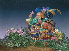 James C. Christensen - Consider the Lilies -  LIMITED EDITION CANVAS Published by the Greenwich Workshop