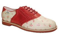 $109 Floral Saddle Shoes from Bass