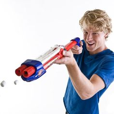 Marshmallow Double Shooter: Fast continuous shooting of mini marshmallows with alternating release from double barrels. Find it here tinyurl.com/7gotmss  #Marshmallow_Double_Shooter #Toys