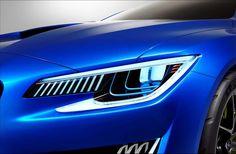 Subaru WRX Concept 2014 headlights on