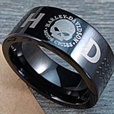 Black Harley Davidson band New with tags ...black in color awesome band.... Unisex a great gift idea for man or woman! Harley davidson  Jewelry Rings