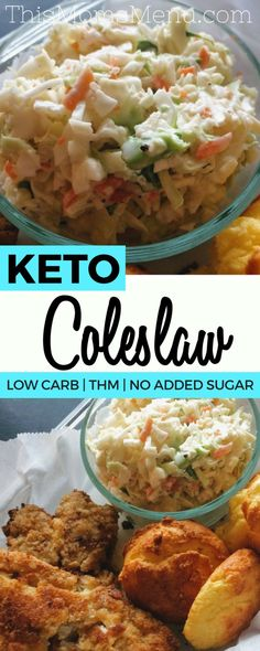 This Coleslaw recipe was created to go with my fried fish - but it's a great side dish to have with just about any meal! I love making some during my weekly meal prep, for a quick veggie side dish to have on hand throughout the week. Not only is it low carb, but its also got plenty of healthy fats making it the perfect keto side dish!