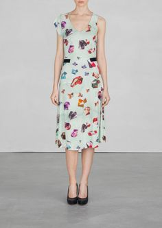OTHER STORIES GEM printed midi dress ~ Feminine single-sleeved dress made from lighweight viscose.