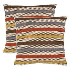I pinned this Ginger Pillow - Set of 2 from the Safavieh Accents event at Joss and Main! These would go great on my couch,,, of course there would be no room for anyone to sit down, but the couch would look great!!!