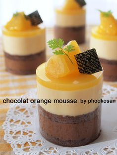 ショコラ・オランジュ♪ムースケーキ♪