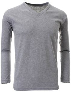 FLATSEVEN Mens V-Neck Long Sleeve T-Shirts (TVL01) Grey, L FLATSEVEN http://www.amazon.co.uk/dp/B00E5BAKFA/ref=cm_sw_r_pi_dp_VXllub12B2NH5