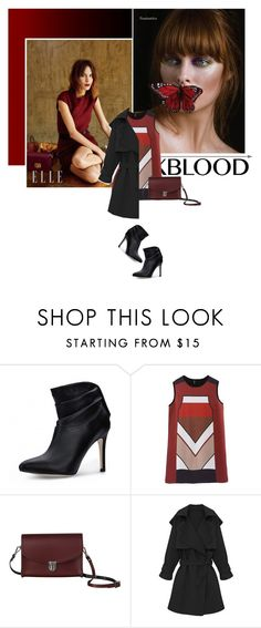 """""""Bhalo 3"""" by s-thinks ❤ liked on Polyvore featuring The Cambridge Satchel Company, booties, everyday, trenchcoat, bhalo and oxbblood"""