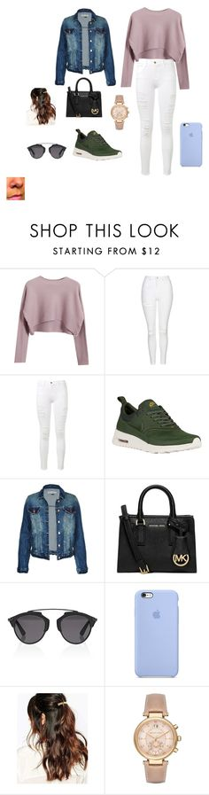 """walk in the park"" by shania-collier on Polyvore featuring Chicnova Fashion, Topshop, Frame Denim, NIKE, Michael Kors, Christian Dior and Suzywan DELUXE"