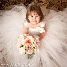 blanca flor vestido vestido del tutú tul vestido por MirelaOlariu