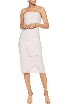 Shop on-sale Roland Mouret Kepler pleated cloqué and crepe dress. Browse other discount designer Dresses & more on The Most Fashionable Fashion Outlet, THE OUTNET.COM