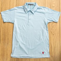Light Blue Short Sleeve Polo by Black & Denim