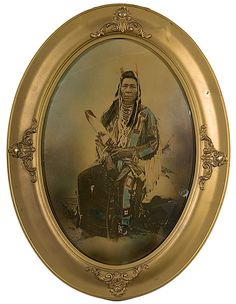 Hand-Colored Photograph of Chief Black Hair,