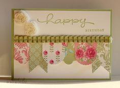 """SASIBELLA: Geburtstagskarte mit """"Hearts a Flutter"""""""