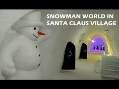 Snowman World in Santa Claus Village in Rovaniemi in Lapland