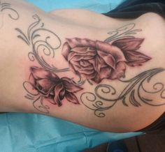 Roses done by Leo Fieschi  at Art Club Tattoo and Piercing
