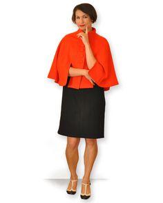 Orange woolen cape by theprofdaughter on Etsy https://www.etsy.com/listing/123952297/orange-woolen-cape