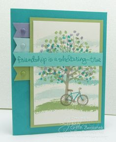 Friendship Sheltering Tree Banner Edge Card Stampin Up