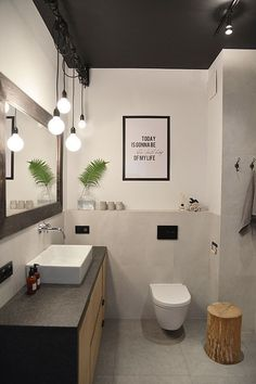 HALF BATHROOM IDEAS – Half bathroom is usually the smallest room in the house and never to receive much attention. Actually, half bathroom is a functional small space where you . Minimalist Bathroom Design, Bathroom Design Small, Bathroom Interior Design, Bath Design, Bathroom Designs, Bad Inspiration, Bathroom Inspiration, Bathroom Ideas, Bath Ideas