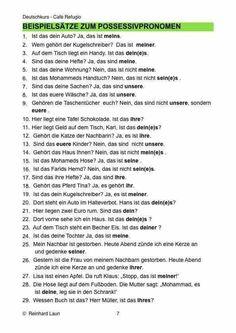 53 best Pronomen images on Pinterest in 2018 | German language ...
