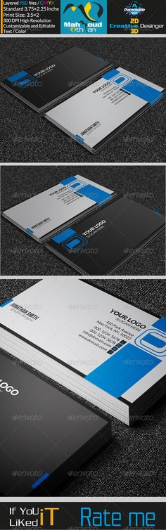 Modern Corporate Business Card 16 — Photoshop PSD #minimalist #personal • Available here → https://graphicriver.net/item/modern-corporate-business-card-16/7272881?ref=pxcr