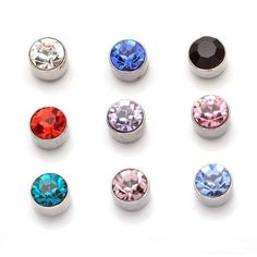 Brand new small Magnetic Stud Earrings Wholesale online women crystal Earrings Jewelry Fashion Bulk Stud Earrings female Sale