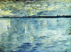 Озеро. Вечер. 1898-1899.  Левитан Исаак Ильич