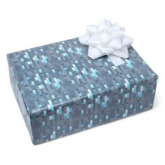 Minecraft Diamond Ore/Cobblestone Wrapping Paper 3 by LEMONCHEST