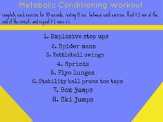 Metabolic Conditioning Workouts @Paige Kumpf