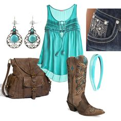 Simple Western Wear, created by lklein23 on Polyvore