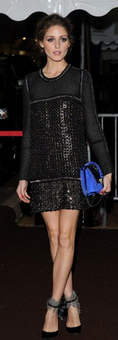 Olivia Palermo: Dress – Roberto Cavalli Shoes – Aquazzura Madison
