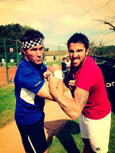 Pat Cash and Janko Tipsarevic.  #tennis #tennisplayer #patcash #sport