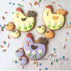 Cookies For Kids, Easter Cookies, Holiday Cookies, Meringue Cookies, Yummy Cookies, Sugar Cookies, Sugar Cookie Royal Icing, Cookie Designs, Easter Recipes