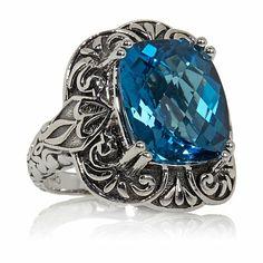 Hilary Joy 9ct London Blue Topaz French Lace Ring