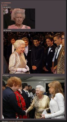 So children, what we can learn from this is that Queen Elizabeth is one of us too. Fangirling has no age limit.