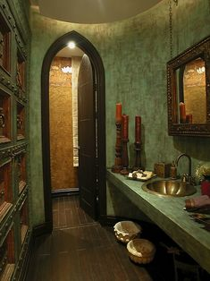 Harry potter themed bathroom for the grownups {It will never happen..unless I make a million dollars, then I might be able to have a Harry Potter Themed Bathroom.}