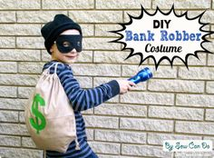 Sew Can Do: Easy DIY Costumes: Old Time Bank Robber & BOO-tiful Ghost