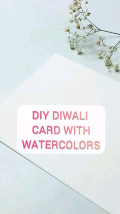 Watercolor Techniques, Watercolor Paintings, Greeting & Note Cards, Diwali Diy, Diy Gifts, Craft Supplies, Creative, Projects, Art
