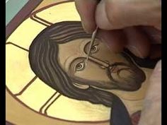 Holy Trinity Iconography Update: Must See Video! Live Capture of Writing of the… Byzantine Icons, Byzantine Art, Religious Icons, Religious Art, Painting Videos, Painting Techniques, Trailer Youtube, Writing Icon, Paint Icon