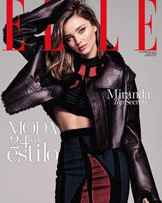 Cover girl: Miranda Kerr stuns on the cover of the latest issue of Elle Spain